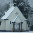 Our Lady of the Alps church at Franz Josef Glacier lived up to its name this morning. Photo / Supplied 
