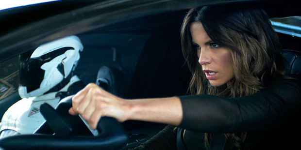 Loading Kate Beckinsale in a scene from the new Total Recall film. Photo / Supplied