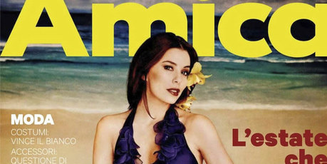 Eva Longoria on the cover of  Italian magazine, Amica. Photo / Amica