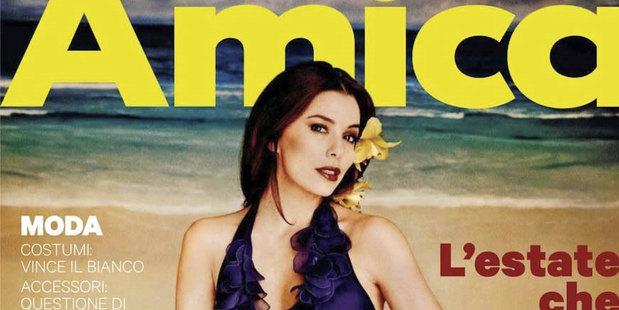 Eva Longoria on the cover of  Italian magazine, Amica. Photo / Amica