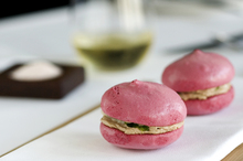 Michael Meredith's surprising smoked duck and beetroot meringue starter. Photo / Babiche Martens