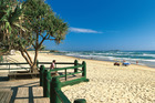 An early morning beach scene at Maroochydore on the Sunshine Coast. Photo / Tourism Queensland