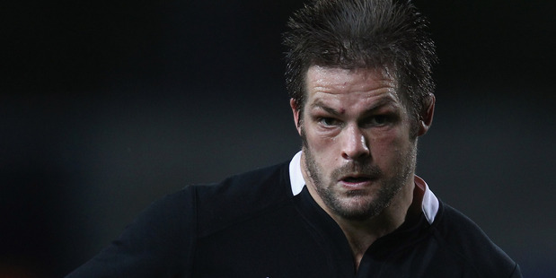 Richie McCaw played in the unfamiliar number eight position for the All Blacks during the final test against Ireland on Sunday. Photo / Getty Images