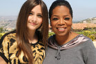 Paris Jackson poses with Opera Winfrey.  Photo / AP