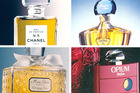 (Clockwise from top left) No 5 (Chanel) 1921, Shalimar (Guerlain) 1925, Opium (Yves Saint Laurent) 1977 and Miss Dior (Christian Dior) 1947. Photos / Supplied