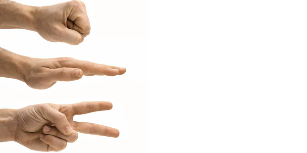 Your rock, paper or scissors will be no match against a robot adversary. Photo / Thinkstock
