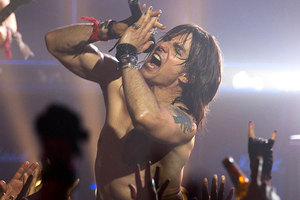Tom Cruise as rocker Stacee Jaxx in recent film Rock of Ages. Photo / Supplied