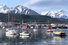 The Martial Mountains, home to planet's most southerly ski area, prod the sky beyond the Argentine port city of Ushuaia. Photo / Thinkstock