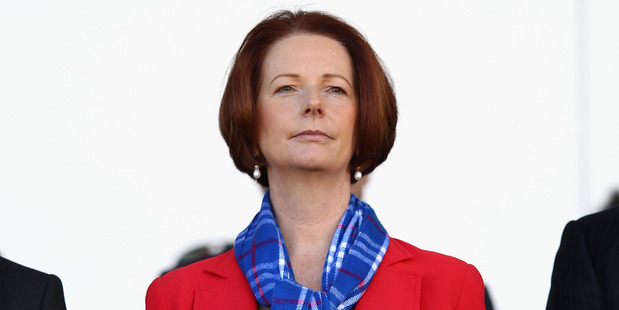 Australian PM Julia Gillard spent much of yesterday rebuffing Tony Abbott's claims. Photo / Getty Images