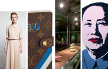 Ways to indulge: Juliette Hogan 'Garden' dress, $599; Louis Vuitton's Mon Monogram service; Guerlain workshop and Andy Warhol's 91.5 x 91.5cm silk screen prints, $495. Photos / Supplied
