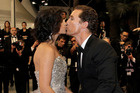 Camila Alves, left, and Matthew McConaughey kiss as they depart after a film screening at the 65th international film festival, in Cannes, earlier this year. Photo / AP