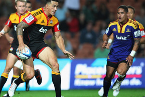 The Highlanders needled the Chiefs, and in particular Sonny Bill Williams, but there would be no repeating their round one success in Hamilton. Photo / Getty Images.