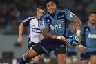 Ma'a Nonu of the Blues offloads during the round 17 Super Rugby match between the Blues and the Force at Eden Park. Photo / Getty Images.