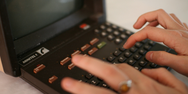 The Minitel terminal helped keep the French up to date for three decades. Photo / Supplied