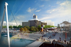 An artist's impression of the building taking shape which the ASB says will blend into its surroundings. Photo / Supplied