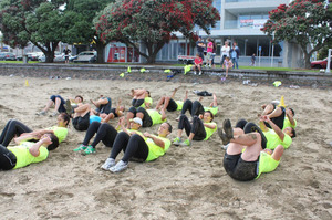 Essendon Tuitupou's boot camps aim to help people enjoy exercise.