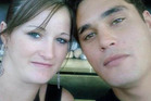 Sean Kenzie, who has life-threatening injuries, and girlfriend Amy Myles. Photo / Supplied