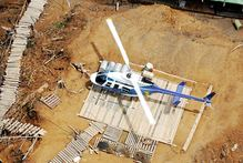 A Bell 206 helicopter like this one is missing in PNG. Photo / Supplied