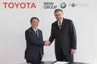 Toyota Motor Corporation president Akio Toyoda and BMW Group chairman Norbert Reithofer.