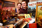 David and Angela Taylor with some of the board games they sell from their home in Papamoa.  Photo / Alan Gibson