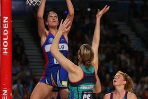 Mystics defender Anna Harrison earlier this year dumbfounded Vixens shooters. Photo / Getty Images