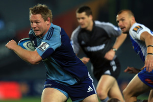 Tom McCartney in action for the Blues last night.  Photo / Getty Images