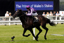 Joseph O'Brien on So You Think wins the Prince of Wales Stakes at Royal Ascot. Photo / Reuters