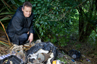 Peter Hagglund is fed up with illicit dumping. Photo / Kellie Blizard
