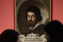 A portrait of Caravaggio by an unknown painter. Photo / AP
