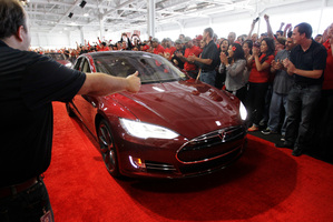 Former General Motors vice chairman Robert Lutz says the Tesla Model S was created by some of the world's finest designers. Photo / Paul Sakuma