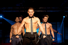 Channing Tatum (centre) in Magic Mike, also starring Matthew McConaughey, and directed by Steven Soderbergh. Photo / Supplied