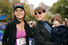 Tom Cruise and Katie Holmes in happier times. Photo / AP