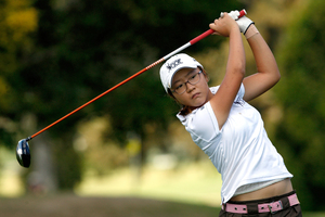 Lydia Ko is seven shots off the lead in Wisconsin. File photo / Brett Phibbs