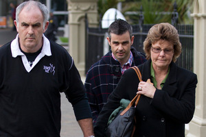 The parents of Ewen Macdonald, Kerry Macdonald and Marlene Macdonald, leave the High Court in Wellington during the trial. Photo / Mark Mitchell
