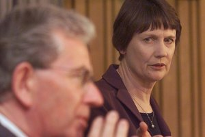 Dr Michael Cullen and former PM Helen Clark devised the Mixed Ownership Model. Photo / Mark Mitchell