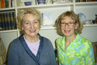 Felicity Drumm (left) was married to Malcolm Webster. She is pictured here with sister Jane Drumm. Photo / Supplied