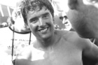 A young Russell Coutts makes his name at the 1984 Los Angeles Games. Russell Coutts emerges from the weighing tent, after winning a gold medal at Los Angeles. Photo / File.