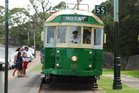 One of the trams at Motat. Photo / Supplied