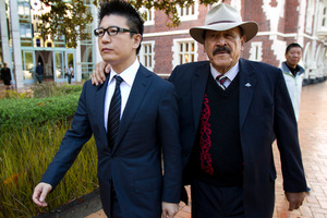 William Yan was supported in court by former Labour Government minister Dover Samuels. Picture / Brett Phibbs.