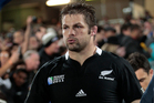 The All Blacks already have a corporate logo on their jersey. Photo / Getty Images