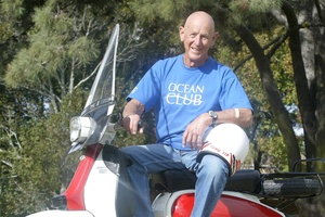 Scooter owner Sid Salek rafted in Croatia. Photo / APN