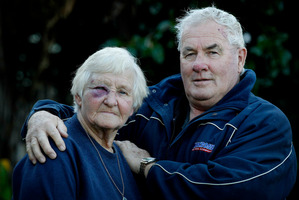 Margaret and Bob Gabolinscy were treated at Tokoroa Hospital after the attack in the walkway bordering their property. Photo / Christine Cornege