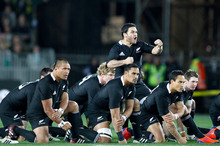 A new look might decorate the All Blacks' jerseys if rumours are true. Photo / NZPA