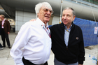 Formula One Management chief Bernie Ecclestone (left) and Jean Todt before the China Grand Prix. Photo / Getty Images