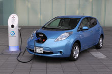 Nissan's Leaf needs to be plugged in for its battery to charge.