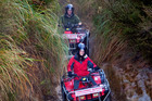 Petrol heads have true off-road adventures with Tongariro Quads. Photo / Supplied