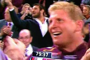 Queensland player Dave Taylor is caught on camera pulling the finger. Photo / Facebook