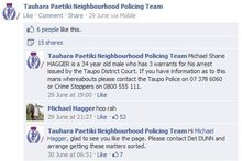 Michael Hagger is still being sought by police, despite his interaction with them on Facebook. Photo / supplied