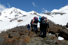 Mountain hiking and climbing with the Sir Edmund Hillary Outdoor Pursuits Centre. Photo / Supplied