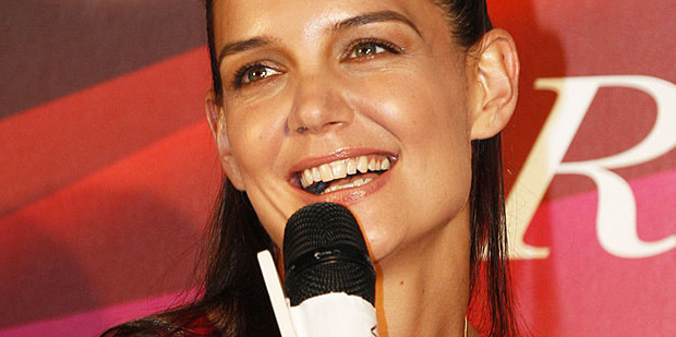 Katie Holmes was all smiles in Japan in early June. Photo / AP